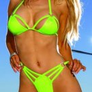lycra string top bra with matching spider thong