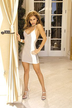 Slip style mini dress in lycra lame'