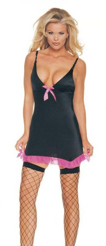 Lycra garter dress with bow in front