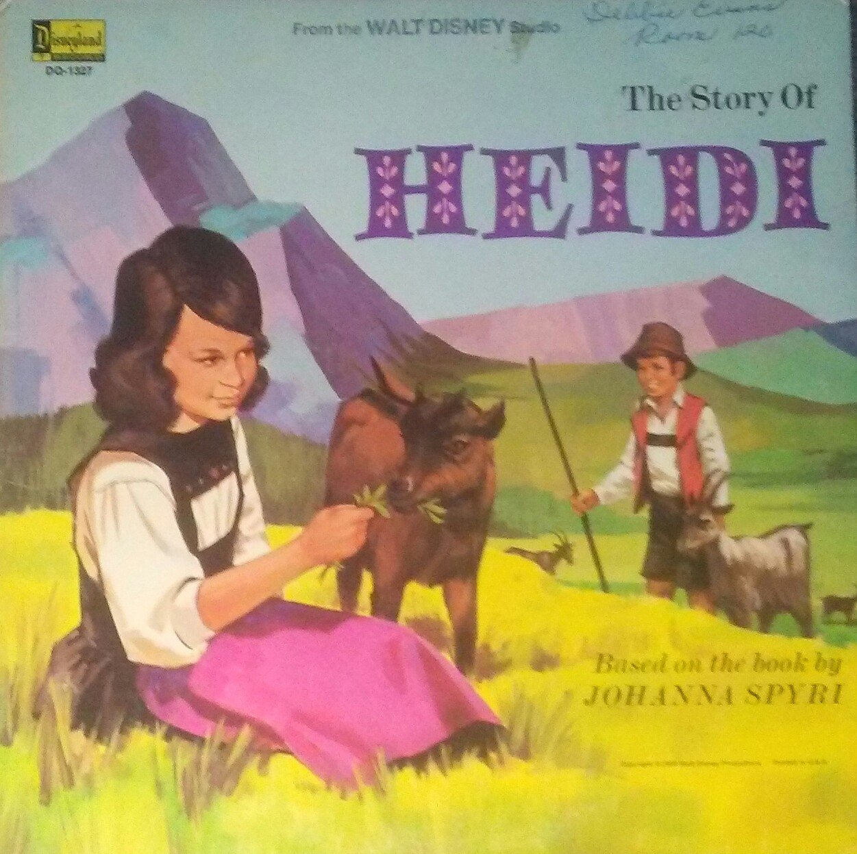 "Walt Disney ""the story of Heidi"" -1971 LP"