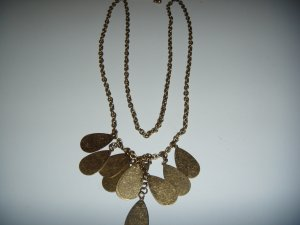 Costume Jewelry Brown Leaf Necklace