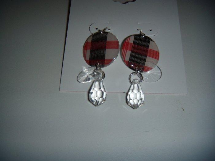 Costume Jewelry Circle Flag Earrings