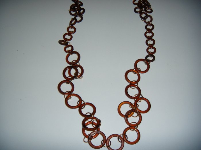 Costume Jewelry  Brown Ring Necklace