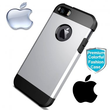 Apple iPhone 5S Premium Case- Silver Color