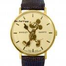 NEW Ladies Disney Bradley Mickey Mouse Swiss Pie Eye Gold Watch