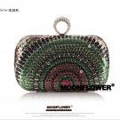 Designer Peacock Sequined Rhinestones Ladies Purse,Evening Bag 3008#