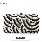 Sequined Designer Pearl Ladies Clutch Evening Party Bag x114#