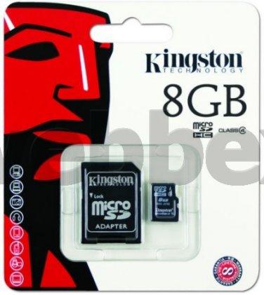 GENUINE KINGSTON MICRO SD CLASS 4 8GB SDHC MEMORY CARD