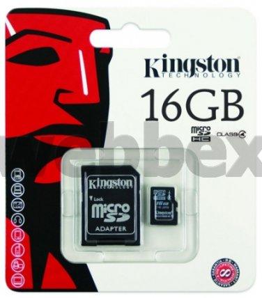 GENUINE KINGSTON MICRO SD CLASS 4 16GB SDHC MEMORY CARD
