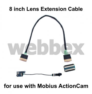 8 INCH LENS EXTENSION CABLE FOR MOBIUS ACTIONCAM