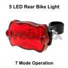 5 LED 7 MODE REAR BIKE LIGHT