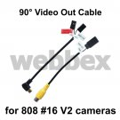 RIGHT ANGLE 90° VIDEO OUT LEADS FOR 808 #16 V2 CAMERA