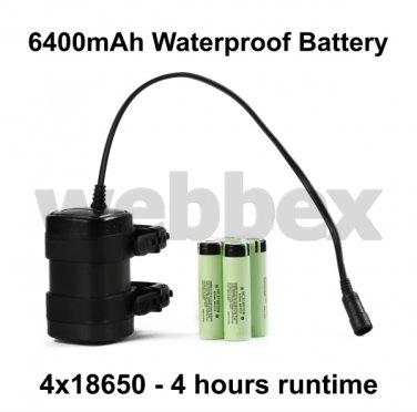 6400mAh 4 HOUR 4x18650 WATERPROOF BATTERY PACK