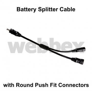 """BATTERY """"Y"""" SPLITTER CABLE (PUSH FIT)"""