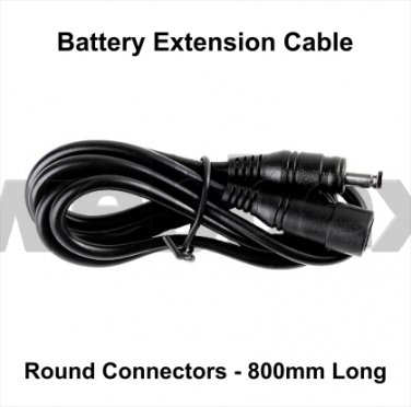 0.8 METRE BATTERY EXTENSION CABLE - ROUND CONNECTORS