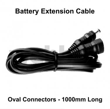 1.0 METRE BATTERY EXTENSION CABLE - OVAL CONNECTORS