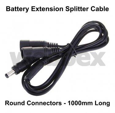 1.0 METRE BATTERY SPLITTER EXTENSION CABLE - ROUND CONNECTORS