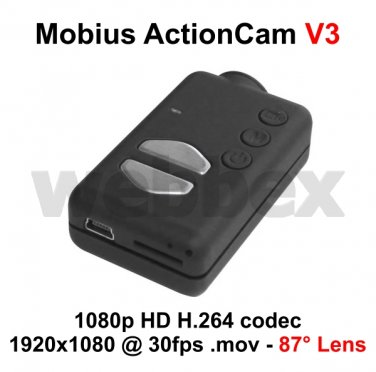 MOBIUS ACTION CAMERA MICRO HD FULL 1080P H.264 WITH A/V OUT