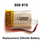 REPLACEMENT 250mAh BATTERY FOR 808 #16 CAMERAS.