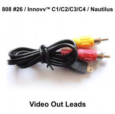 VIDEO OUT LEADS FOR THE 808 #26, INNOVV AND NAUTILUS CAMERAS
