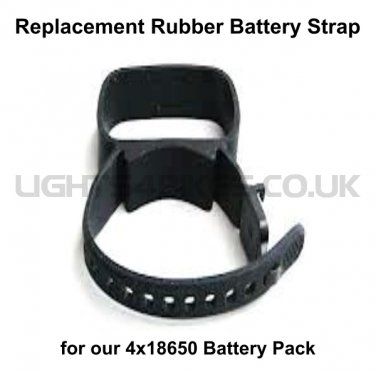REPLACEMENT RUBBER BATTERY STRAP (4x18650 PACK)