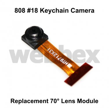 REPLACEMENT 70° LENS MODULE FOR 808 #18 KEYCHAIN CAMERAS