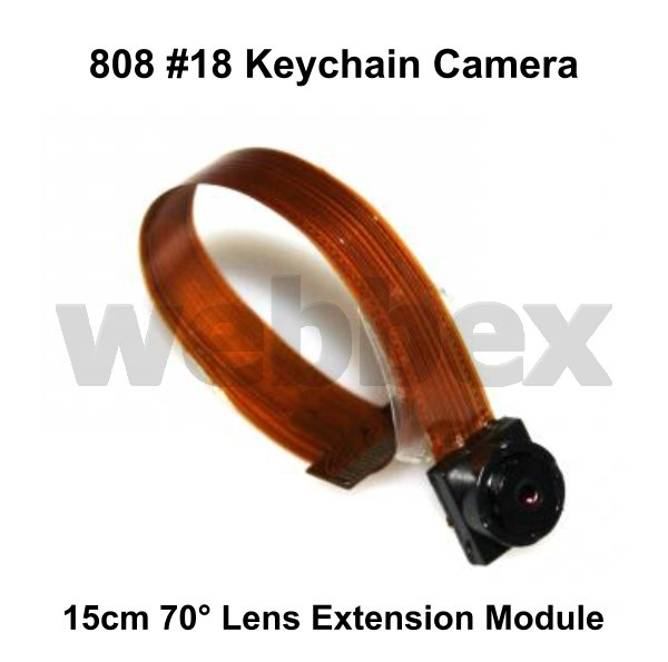 15CM 70° LENS EXTENSION MODULE FOR 808 #18 KEYCHAIN CAMERAS
