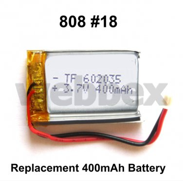 REPLACEMENT 400mAh BATTERY FOR 808 #18 CAMERAS