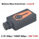 MOBIUS MAXI LENS B 1080P/2.7k 150° ACTION CAMERA MINI DVR (ORANGE)