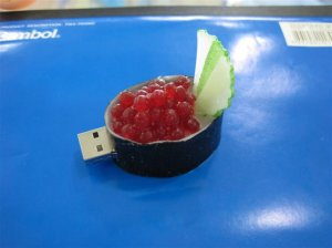 ROE Sushi USB flash memory disk , Foods style USB flash drive      8GB