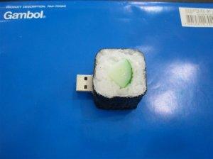 Sushi USB Flash drive, Foods style USB flash memory   8GB