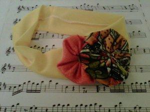 Yellow and orange spring hair band