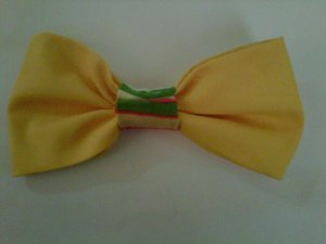 Bright yellow, green and orange hair clip