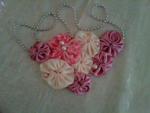 pink pastel bib necklace