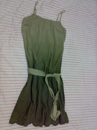 GREEN SPAG DRESS