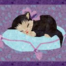 PDF Pattern Sleeping Kitten Kitty Cat Paper Foundation Piecing Pieced Baby Quilt