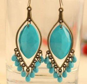 Bohemian Style Drop Tassel Earrings Jewelry Ladies