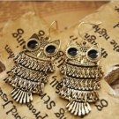 Nice HOT Retro Cinnamon Color Owl Fashion Earrings