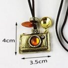 Vintage Antiqued Camera Pendant Fashion Necklace Bronze