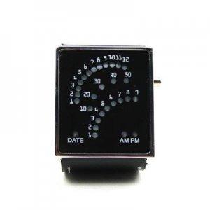 New 29 LED Blue LED Digital Unsex Black Leather Watch