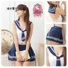 WOMEN LINGERIE BLUE AND WHITE HIGH SCHOOL GIRL UNIFORM SUIT