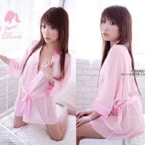 WOMEN PINK LINGERIE bathrobe SLEEPWEAR