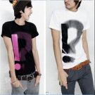 Fashion Originality Exclamation & Question Mark LOVE OF T-SHIRT Black