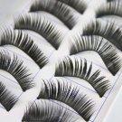 10 Pair Thick Long False Eyelashes Eye Lashes Makeup
