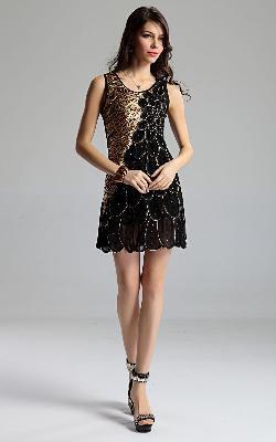 Fashion Women's Summer Wear Sleeveless Silks And Satins Dress