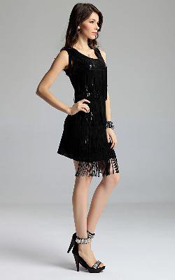 New Lady Women's Summer Wear Sleeveless Fourplycloth Tassels Dress
