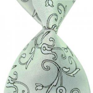 Light Green Arabesquitic Silk Classic Woven Man Tie Necktie