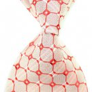 Red Lattice Silk Classic Woven Man Tie Necktie