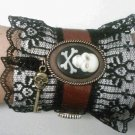 steampunk leather victorian cuff bracelet
