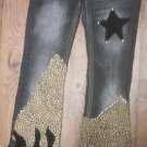 custom leopard leather rocker jeans